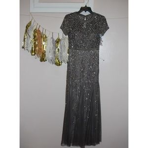 New Adrianna Papell beaded gown